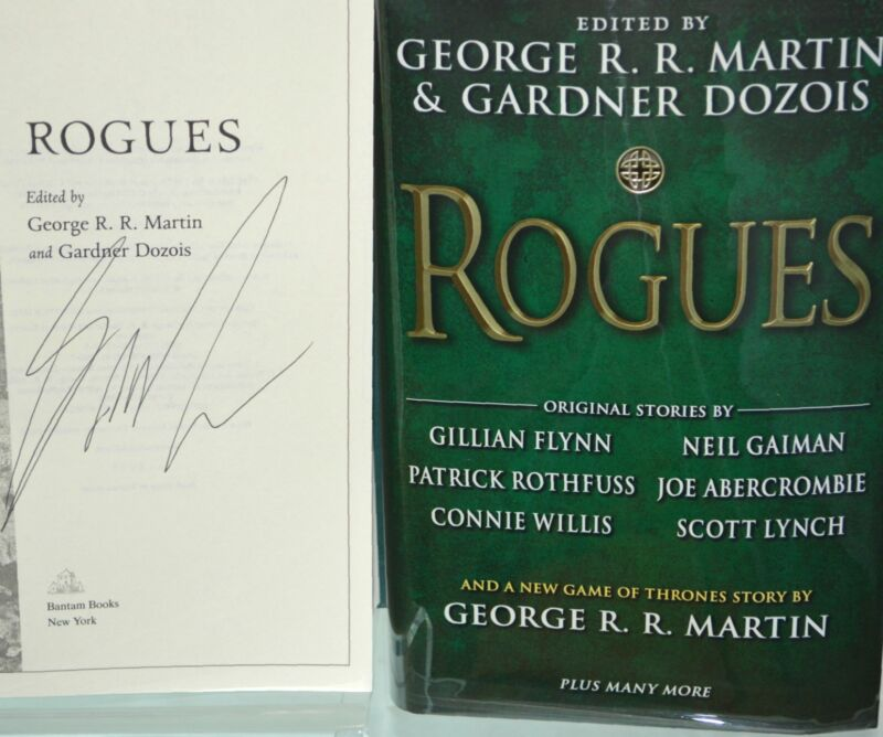 SIGNED by George RR Martin ROGUES 2014 HC a game of thrones Patrick Rothfuss NEW