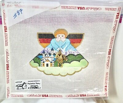 Handpainted Needlepoint Canvas Germany Angel Painted Pony 994AN