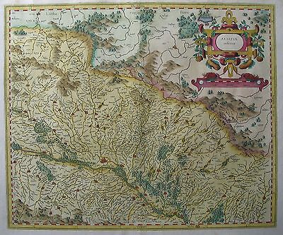 Alsatia inferior  - Nördliches Elsaß, Straßburg - Von Gerhard Mercator - 1607