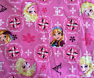 Frozen Clearance ( CLEARANCE FQ  DISNEY FROZEN ELSA ANNA CHARACTER GLITTER SPARKLY FABRIC)