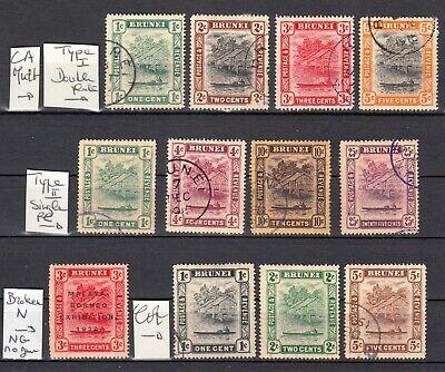 BRUNEI 1908 1924  SG CV 75£  103$  british colonies