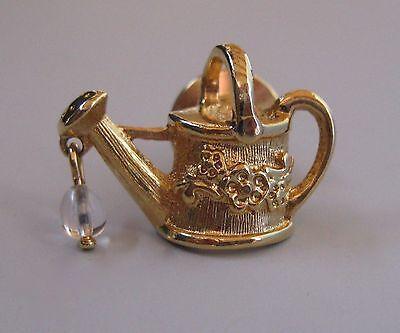 Vintage Goldtone Teapot with Drop Pin