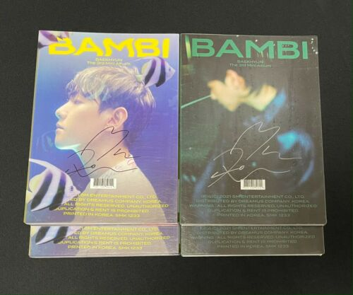 "BAEKHYUN (EXO) autographed ""BAMBI"" 3rd Mini Album signed PROMO CD"