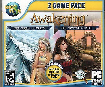 Awakening The Skyward Castle   The Goblin Kingdom Hidden Object Pc Game Dvd New