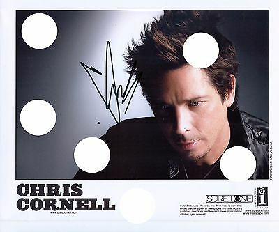 CHRIS CORNELL SIGNED SOUNDGARDEN AUDIOSLAVE PREPRINT PROMO PHOTO RIP