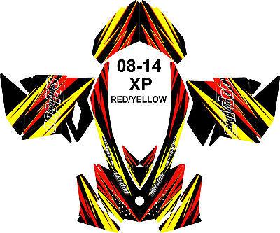 SKI DOO SNOWMOBILE WRAP KIT REV,XP, XR,XS,XM 08-16  LIGHTNING V1 BASIC STICKER