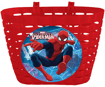 Cesta de Plastico Infantil Niño Niña para Bicicleta de Marvel Spiderman 6212