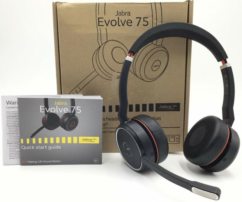 "Jabra Evolve 75 Wireless Headset ""READ"""