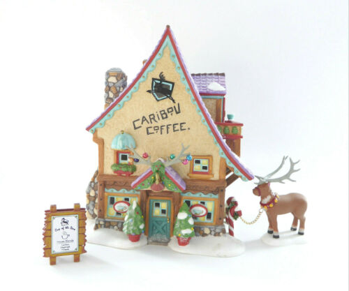 Department 56 Caribou Coffee Shop North Pole Series  #56.56736 2001