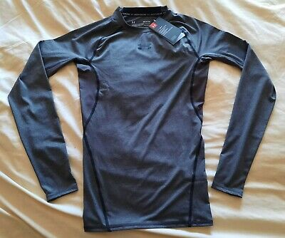 NEW SMALL Under Armour HeatGear Compression Top Long Sleeve Base Layer T Shirt S