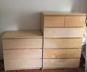 Ikea Malm draws:  good as new! Naremburn Willoughby Area Preview