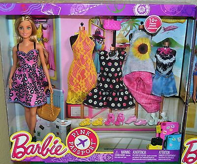 Barbie Pink Passport Fashion Doll Gift Set - New in Box
