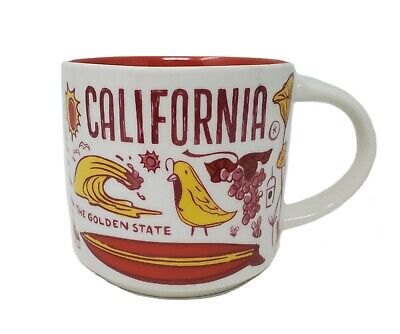 Starbucks Coffee Been There Series Mug CALIFORNIA Cup Redwoods Red Yellow 14oz