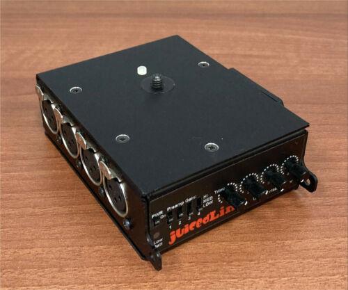 Juiced-Link Ultra Portable Mixer CX431 4 Ch Camera Mountable Mixer/PreAmplifier