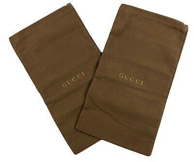 "Vintage GUCCI Dust Bag Shoe Protector 8 1/4""x 15 1/4"" Set of 2"