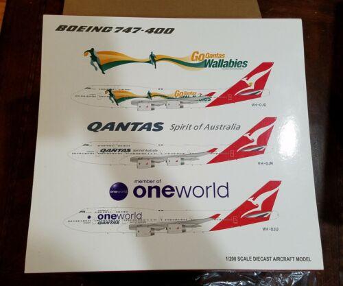 JC WINGS 1:200 QANTAS Boeing 747-400 NEW diecast model Wallabies VH-OJO