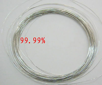 99.99 Platinum Metal Wire Diameter 0.3mm Length 10mm Ef6 Gy