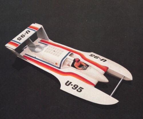 "1/8 Scale U-95 Hydroplane Model Boat Ship Plans,Templates, Instrucions 42"""