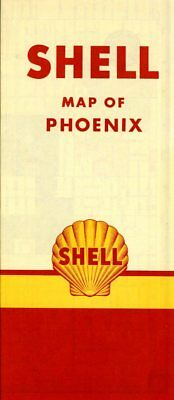 1951 Shell Road Map: Phoenix NOS
