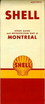 1951 Shell Road Map: Montreal (with header) NOS