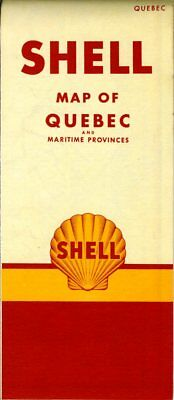 1951 Shell Road Map: Quebec (with header) NOS