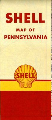 1951 Shell Road Map: Pennsylvania NOS