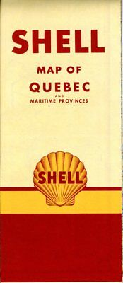 1951 Shell Road Map: Quebec (no header) NOS