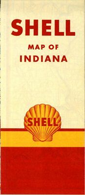 1951 Shell Road Map: Indiana NOS