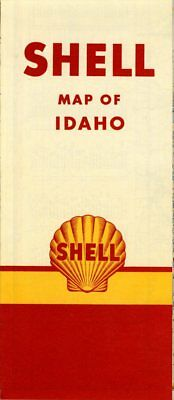 1951 Shell Road Map: Idaho NOS
