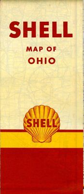 1951 Shell Road Map: Ohio NOS