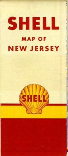 1951 Shell Road Map: New Jersey NOS