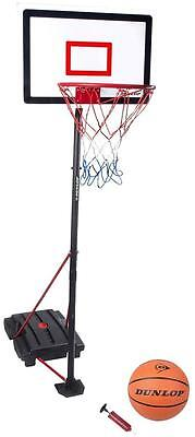 Dunlop Frestanding Portable Basketball Net Hoop Backboard inc Dunlop Ball Pump