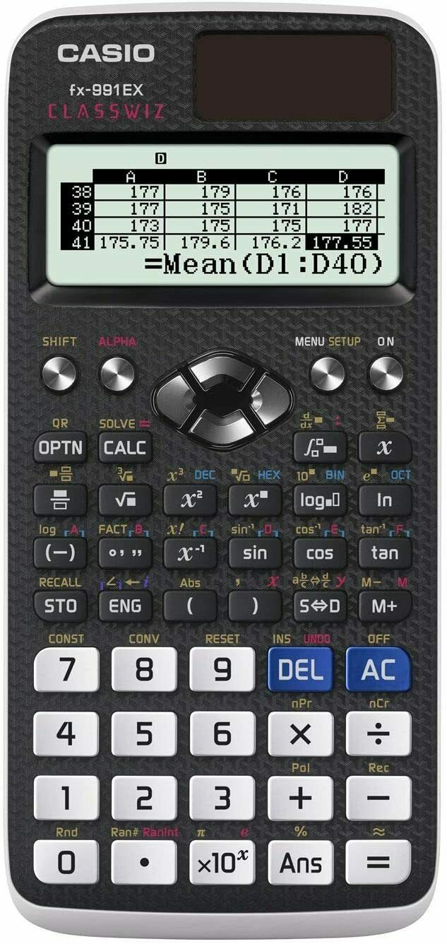Casio FX-991EX Engineering/Scientific Calculator, Black, 3""