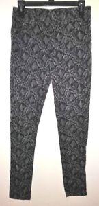 ELAN Womens Pants With Elastic Waist - SIZE M Medium Black & Gray
