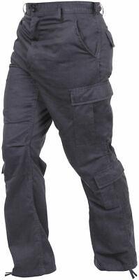 ROTHCO 2986  Vintage Black Army Paratrooper Pants Tactical Military BDU Fatigues Military Fatigues Bdus Black Pants