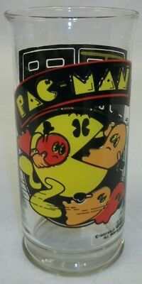 "Vintage Pac Man Video Arcade Game Advertising Flared 6"" Drinking Glass"