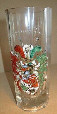 Berlin - AV Kette - WS 1910/11 - Glas mit Wappen und Widmung / Studentika