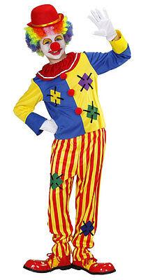 Klassischer bunter Clown Kostüm für Jungen NEU - Jungen Karneval Fasching Verkle