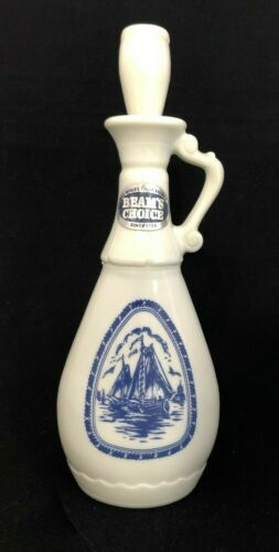 "VINTAGE NAUTICAL, ""BEAM"" DELFT BLUE WHISKEY DECANTER WINDMILL COLLECTIBLE"
