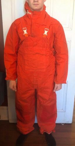 Sajac1 Made In USA Cold Water Fishing Survival Suit Mens Large w/Beacon