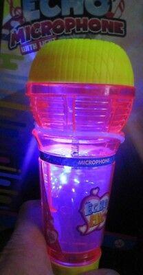 rofon mit Halleffekt + Licht groß , Echo Effekt Beleuchtung (Echo Mikrofon Spielzeug)