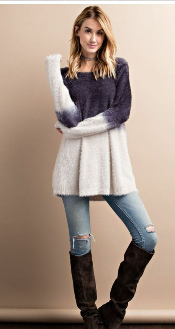 nwt boutique gray ivory super soft mohair
