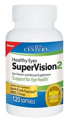 21st Century Healthy Eyes Supervision 2 Softgels 120ct (Compare to AREDS 2) 21st Century Healthy