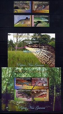 Papua Neuguinea 2011 Warane Lizards Reptilien Reptiles 1625-28 Block 126-127 MNH