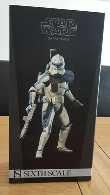 Sideshow Star Wars Captain Rex Phase 2 - 1/6th Scale Figure - RARE - UK