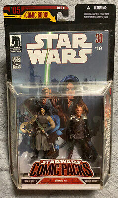 Star Wars Republic Comic Pack #5 with Quinlan Vos with Vilmarh Grahrk MIB