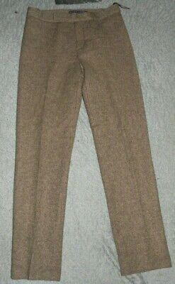 Ralph Lauren Collection Purple Label Brown Wool Alpaca Cashmere Blend Pants sz 6 Cashmere Blend Pants