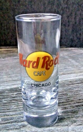 "Hard Rock Cafe Double Shot Glass 4"" Chicago IL USA"