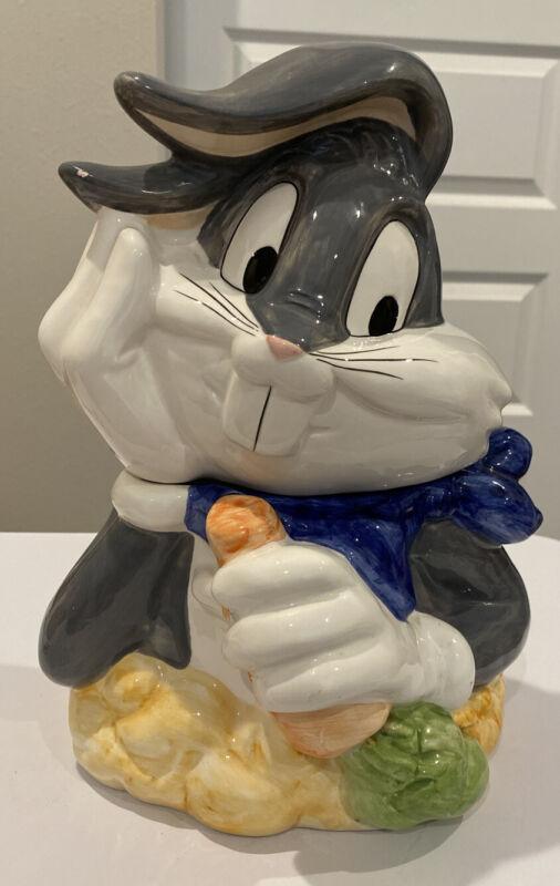 Vintage Bugs Bunny Cookie Jar Carrot Warner Bros. Looney Tunes  1997 Gibson