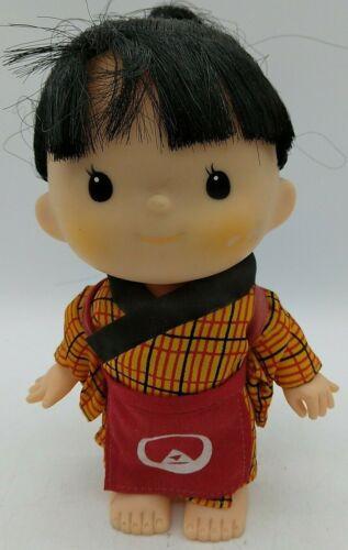 "Vintage 6"" Doll Japanese Asian Oriental GIRL Wearing Kimono Apron Circle Pyramid"